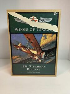 ERTL Wings Of Texaco 1931 Stearman Biplane 3rd In The Series Brand New