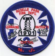 ROSELLE PARK NEW JERSY NJ FIRE PATCH