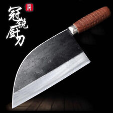 Handmade Traditional Chinese Forged Cleaver Chef Kitchen Knife Slicing Meat Tool