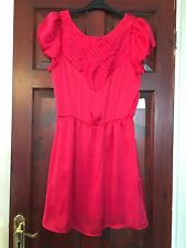 Forever 21 Evening Red Satin Dress With Low Back In A Size Medium