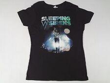 SLEEPING WITH SIRENS - KELLIN QUINN GRAPHIC - 2XL BLACK WOMENS T-SHIRT-C1470