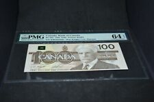 PMG Graded Canada, Bank of Canada BC-60c 1988 $100 Banknote Choice Unc64