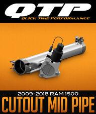 QTP 2009-2018 DODGE RAM 1500 5.7L V8 HEMI ELECTRIC CUTOUT MID PIPE