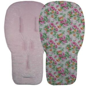 Jillyraff Reversible Seat Liners to fit Bugaboo pushchairs - Pink Designs