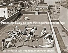 Vintage/Early/Old 1900s Rooftop Sexy Woman/Women Boxing Gloves Photo/Picture