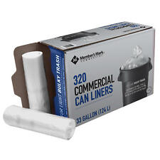 Member's Mark 33 Gallon Commercial Trash Bags (16 rolls of 20 ct., total 320 ct.