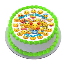 EMOJI  REAL EDIBLE ICING CAKE TOPPER PARTY IMAGE FROSTING SHEET