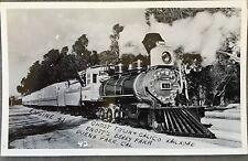 RPPC Real Photo PC Calico Railroad Knotts Berry Engine 41 Buena Vista CA 1950s