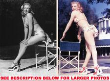 MARILYN MONROE 1948 SWiMSUIT BEAUTY 2xRARE5X7 PHOTOS