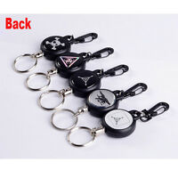 Tactical  Retractable Steel Reel Recoil Chain Key Ring Anti Lost Keychains