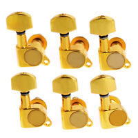Guitar String Inline Tuning Pegs Machine Heads For Electric Acoustic 6 R Gold