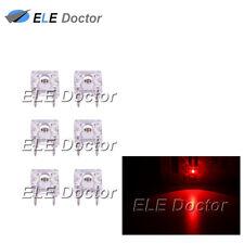 100pcs 3mm Piranha Super Flux Red Light 4Pin Round Top LED Diodes 620-630nm
