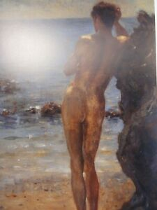 """MUSEUM COLLECTION HENRY SCOTT TUKE """"A LOVER OF THE SUN"""" PRINT BOY SWIMMING"""
