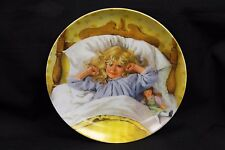 "Edwin M.Knowles ""Awakening"" Plate By John McClelland's Becky's Day Collection"
