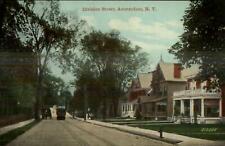 Amsterdam NY Division Street Trolley c1910 Postcard