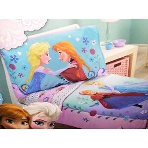 Disney Frozen Elsa and Anna Sisters Forever 4 Piece Toddler Bedding Set Girls