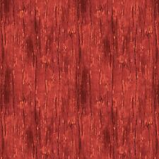 Barn Red Wood Grain Texture Fabric, The Way Home, Wilmington Prints (By 1/2 yd)