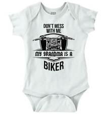 My Grandma Is A Biker Cool Nana Shower Gift Newborn Baby Boy Girl Infant Romper