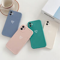 For iPhone 11 12 Pro Max XR XS 7 8 SE2 Shockproof Silicone Love Heart Case Cover