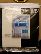 """NOS designables Decor by Design Ivy Tier Curtains Blue 60"""" W x 36"""" L Made in USA"""