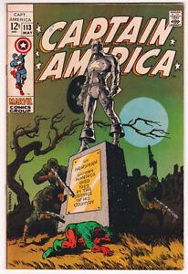 Captain America #113 Very Fine Plus 8.5 Bucky Madame Hydra Jim Steranko Art 1969