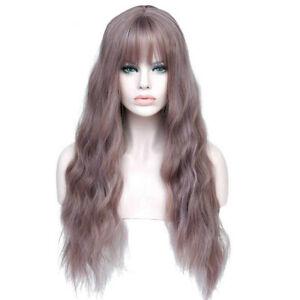Womens Wigs with Bangs Heat Resistant Synthetic Kinky Curly Wigs for Women