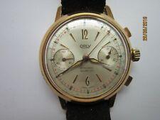 """Montre chronographe """"ORLY""""  Valjoux 23 des années 1950"""