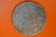 King Louis XIIII Of France 1/2 Ecu Milled Silver Coin - 1643