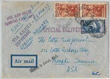 47386 - ITALIA REPUBBLICA - Storia Postale: LAVORO su BUSTA Posta Aerea Espresso