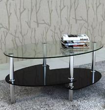 Tavolino da Salotto Caffè Soggiorno Moderno piani in vetro 90x43x45 cm Bicolore