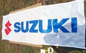 Suzuki Banner Fahne Flag Fanartikel Rarität Sammler Clubhouse Deko ~ 70x235cm