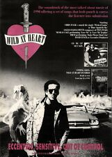 22/12/90 Pgn13 Advert: wild At Heart Soundtrack & Video Coming Soon 15x11
