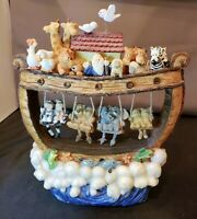"EUC VTG Kingspoint Designs Noah's Ark Musical ""Over the Rainbow"" Box Figure OOAK"
