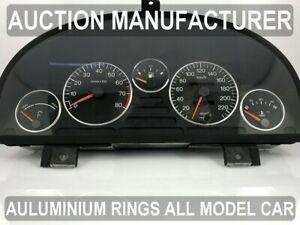 Pour Peugeot 405 86-96 Cerclages De Compteur Aluminium Anneaux Chrome x5