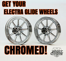 Get Your Electra Glide Wheels Chromed by Sport Chrome with a LIFETIME WARRANTY!