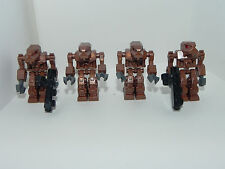 Lego Minifig Minifigure Exo-Force Robot Iron Drone Red Eyes Lot of 4