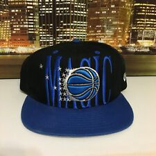 New Era Vintage Style NBA Basketball Orlando Magic Black Blue Snapback Hat