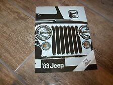 Prospectus  / Brochure JEEP Gamme / Full line 1983 USA //
