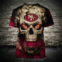 San Francisco 49ers Football Primary Short Sleeve T-Shirt fan's gift Tee Top