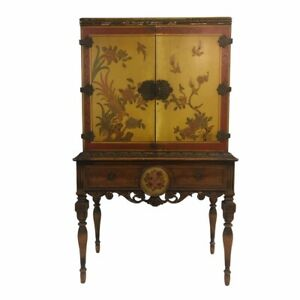 Original Tauber Furniture Bar Cabinet Chinoiserie Asian 1920's