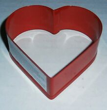 VALENTINE'S DAY Cookie Cutter  HEART  Metal  RED