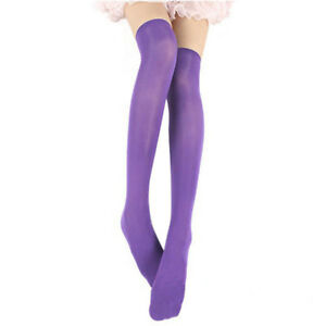 Sexy Women Warm Cotton Thigh High Stockings Knit Over Knee Lace Girls Long Socks