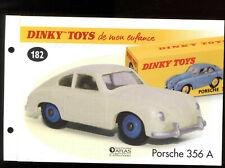Dinky toys/atlas sheet for the model # 182 porsche 356 a