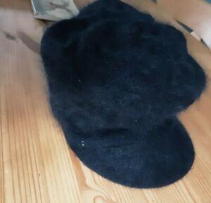Mohair Effect Baker Boy Hat