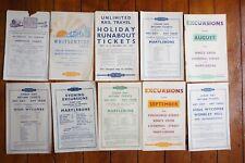 More details for 1930s 1940s lner eastern region railway handbills timetable x10 ref d
