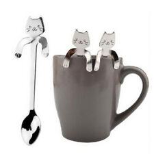 Cute Cartoon Cat Stainless Steel Tea Coffee Spoon Ice Cream Cutlery Tableware