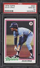 1978 Topps #687 Julio Cruz - Mariners - PSA 10 - 22020645