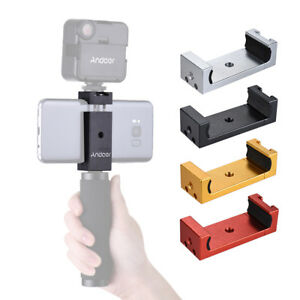 Smartphone to Tripod Mount ALUMINUM Adapter Holder w/ HOT SHOE Adjustable Size