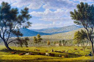 John Glover - Patterdale Farm, Australian Art, Canvas Print
