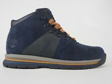 Mens Timberland GT Rally Mid A1QEY Navy Leather Lace Up Hiking Boots